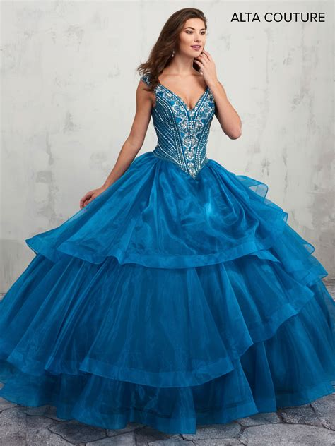 quinceanera couture dresses style mq  ocean color