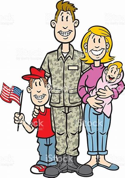 Military Clipart Cartoon Soldier Families Vector Army