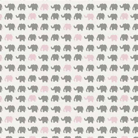 modern baby nursery bedding gray and pink elephant parade fabric by the yard pink