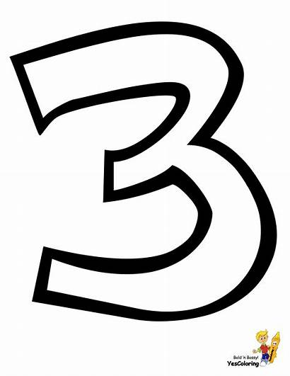 Coloring Pages Preschool Three Numeral Numbers Alphabet