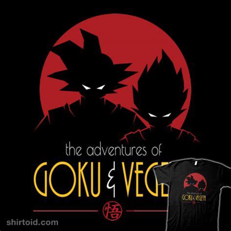 skull logo t shirt the adventures of goku vegeta shirtoid