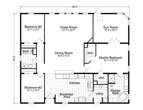 blueprints for homes wellington 40483a manufactured home floor plan or modular