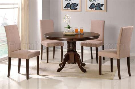 Dark Espresso Finish Round Pedestal Base Table W/optional