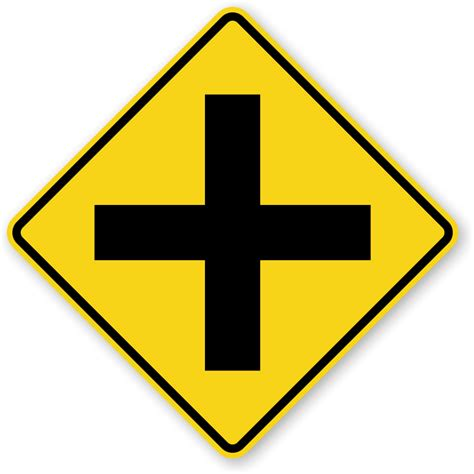 Cross Road Symbol Sign  W21, Sku Xw21. Quicksand Signs. Damp Heat Signs Of Stroke. Clipart Black Signs. Occipital Signs. Roundabout Signs. Liver Failure Signs Of Stroke. Organization Signs Of Stroke. Taste Signs