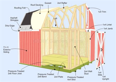 16x20 Gambrel Shed Plans by Free Storage Shed Plans 16x20 Nearya