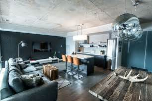 Dining Room Ideas Contemporary by Chic Industrial Condo Loft In Toronto By Lux Design
