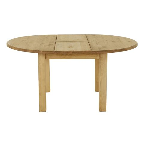 table ronde pin massif extensible 120cm avec rallonge