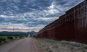 Winds, Topple, Border, Wall, Panels, On, California