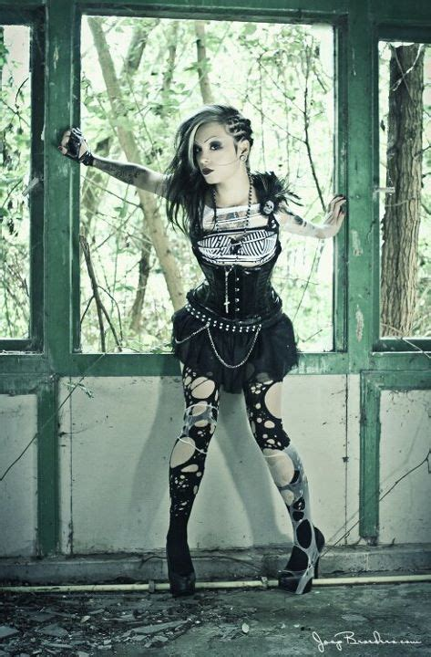 I love this look simply badass and beautiful. love the tights ] #girl #style #gothic | Goth ...