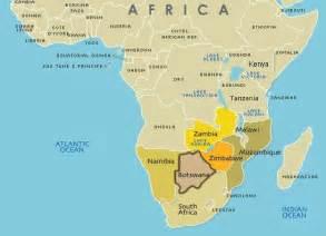Botswana Southern Africa On Map