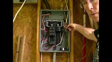 How Add Circuit Load Center Breaker Box Youtube