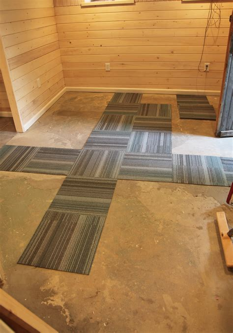 our basement part 40 installing carpet tile stately kitsch
