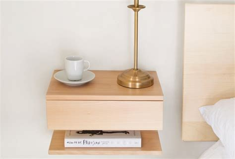 Bed Frame With Attached Nightstands by 10 Easy Pieces Wall Mounted Bedside Shelves With Drawers