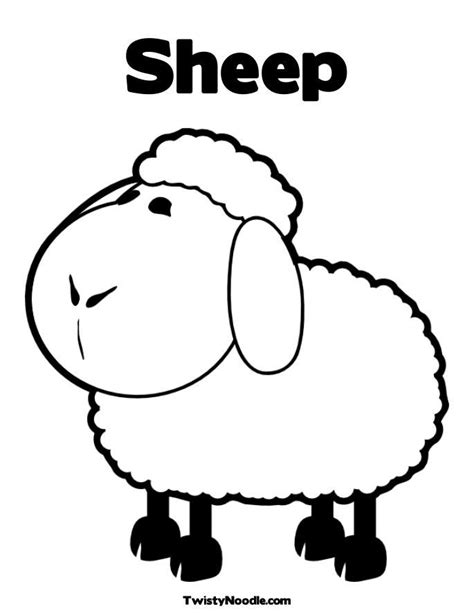 color sheep coloring pages sheep coloring home