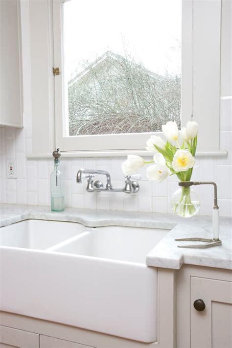 Dual Farmhouse Sink   Cottage   kitchen   Jessica