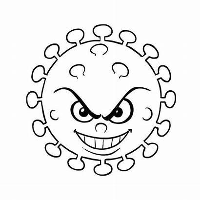 Cartoon Coronavirus Coloring