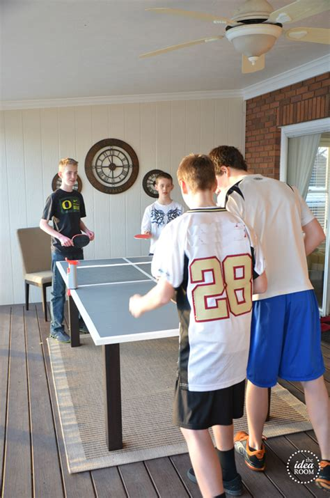 diy ping pong table  idea room