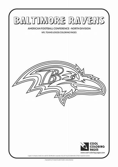 Nfl Coloring Ravens Football Pages Logos Baltimore