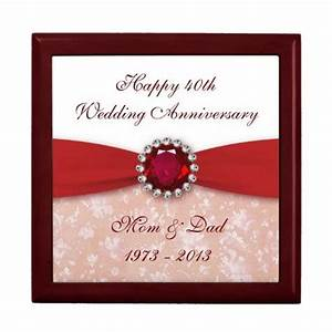 damask 40th wedding anniversary gift box damask 40th With 40th wedding anniversary traditional gift