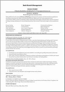 Bank manager resume template learnhowtoloseweightnet for Free online resume