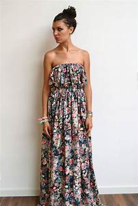 Maxi robe longue bustier liberty fleurie fluide et maxi for Robe longue fluide fleurie