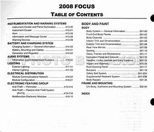 2008 Ford Focus Repair Shop Manual Original