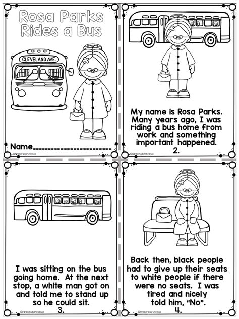 rosa parks black history month activities 1st grade 302 | 6e8824272072106293881a74591096a3