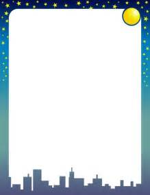 Moon and Stars Border Clip Art