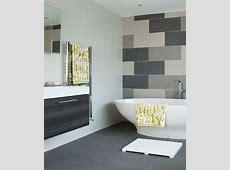 Cute Modern Bathroom Tile Designs 2 Tonal Grey With Stone