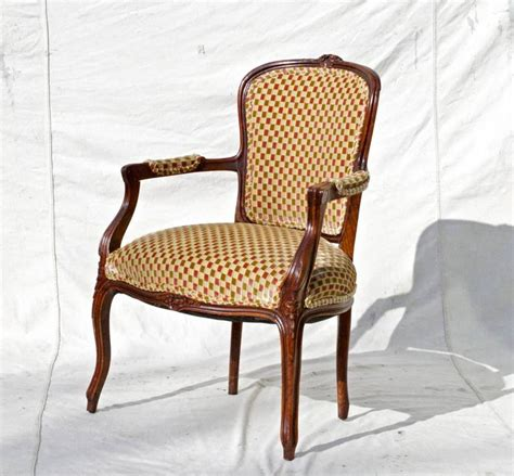 fauteuil bergere louis xv louis xv fauteuil in cut velvet for sale at 1stdibs
