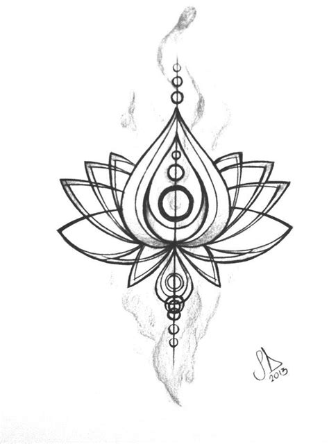 Lotus Flower stencil | Lotus flower tattoo design, Chakra tattoo, Flower tattoo drawings