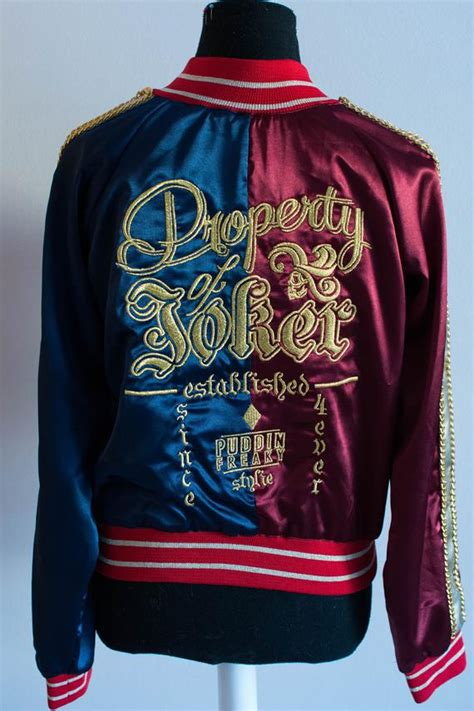 harley quinn suicide squad embroidered jacket cosplay