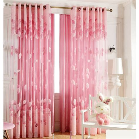 Romantic Pink Sheer Curtains Cheap For Girls Room