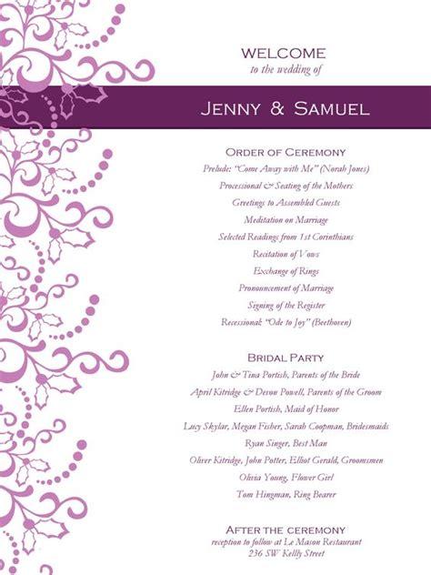 wedding program templates free weddingclipart wedding programs program