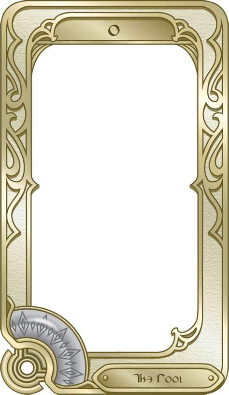 tarot card template tarot card frames search card designs tarot cards card designs and