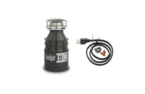 insinkerator badger5wc power cord included badger 1 2 hp