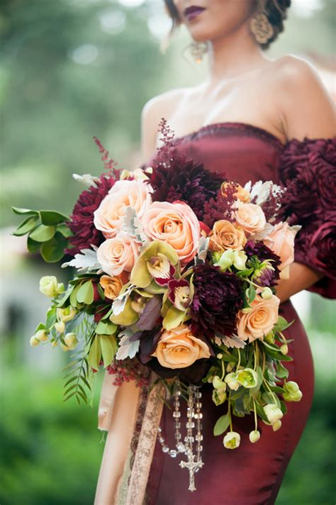 red  gold spanish wedding ideas