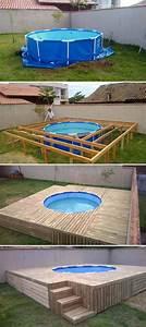 Pool Mit Holz : den runden pool mit holz verkleiden im garten diy garten garten garten ideen und haus und ~ Orissabook.com Haus und Dekorationen