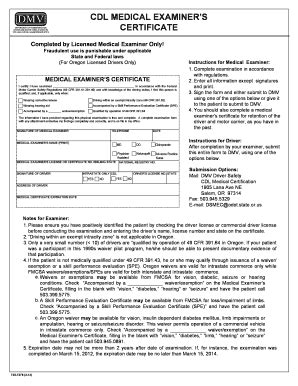 dot forms and cards oregon department of transportation physical exam form