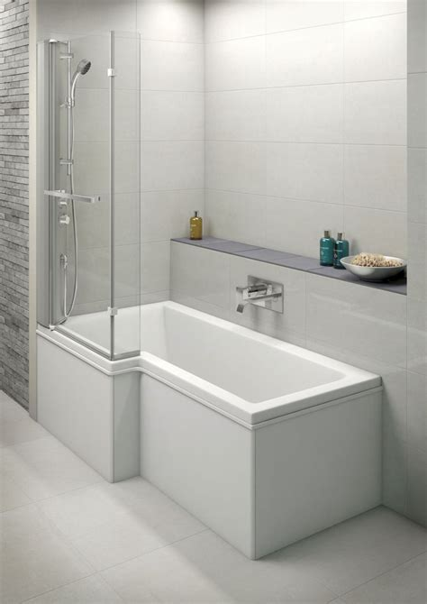 Bath With Shower by Moods L Shaped Shower Bath Screen With Integrated Mixer