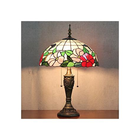 table lamp  light nature inspired resin glass painting