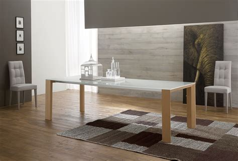tavolo sala pranzo tavolo allungabile per sala pranzo in legno e vetro 250 cm