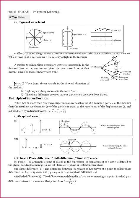 class  notes physics waves exercise  fabtemplatez
