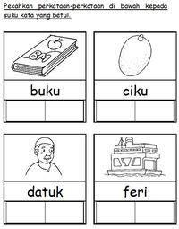 bahasa malaysia images preschool worksheets