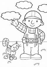 Builder Bob Coloring Printable Printables Bestcoloringpagesforkids Toddler Scoop Bobs sketch template