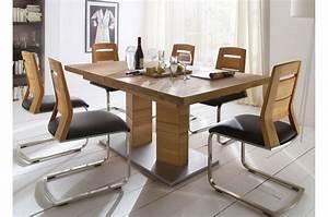 Table Extensible Bois Massif : table repas bois massif rectangulaire 180 270 cm cbc meubles ~ Teatrodelosmanantiales.com Idées de Décoration