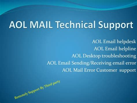 contact aol help desk ppt aol support i8oo 385 4895 aol mail technical support