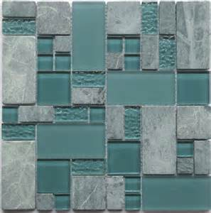 stainless steel backsplash kitchen obscure turquoise gq04 green gray glass mosaic