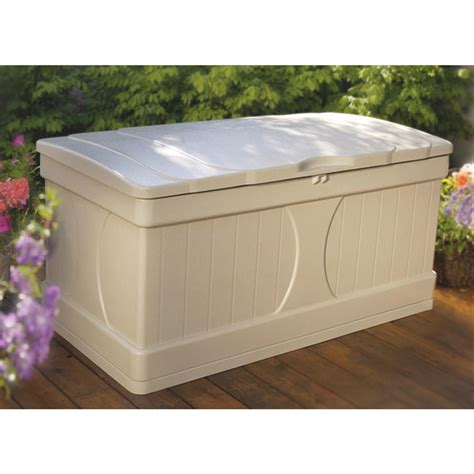 suncast 174 extra large deck box 138434 patio storage at