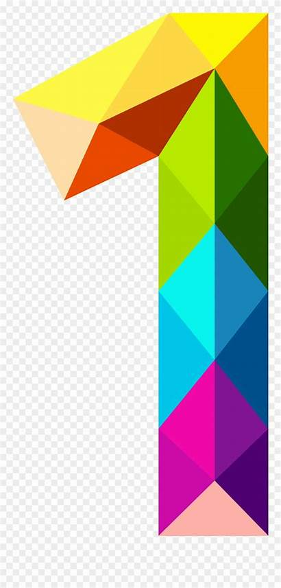 Colourful Number Clipart Triangles Pinclipart Transparent Triangle